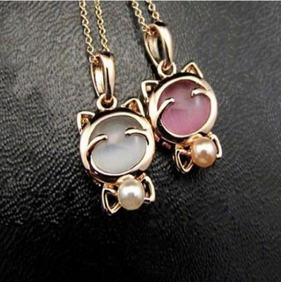 Lucky Kitty Chain Necklace For Women