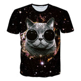 3-D Graphic Cat T-Shirts