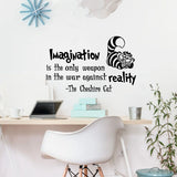 Cheshire Cat Quotes Vinyl Wall Mural