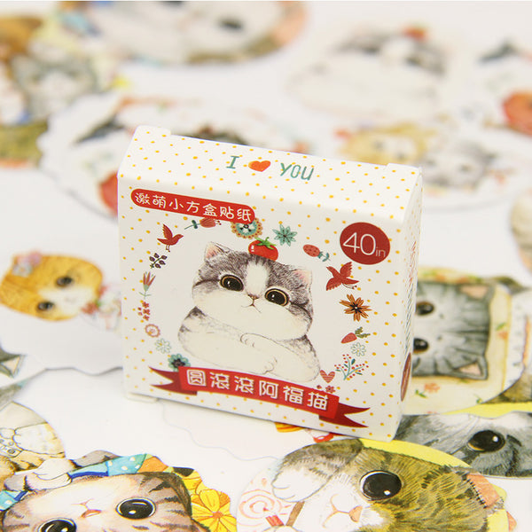 Mini Cat Stickers: 120 Pieces (3 boxes)