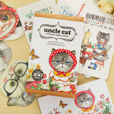 Uncle Cat Mini Card, Bookmark & Sticker Set