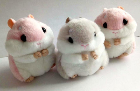 Mini Plush Hamster Keychain