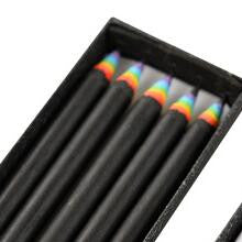 Set of 5 Beautiful Rainbow Pencils