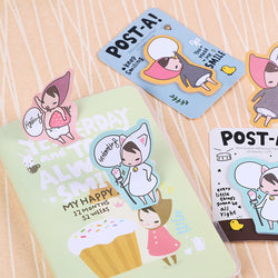 Adorable Korean Sticky Notes: 6 Pieces