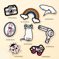8 Pieces Kawaii Iron on Patches