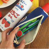 Toothpaste Pencil Case with Sharpener in Lid