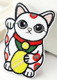 Lucky Cat Iron On Patch