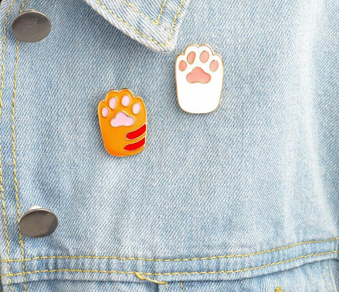 Enamel Cat Paw Pins (Set of 2)