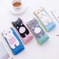 Canvas Cat Zipper Cases