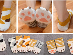 Cat Paw Ankle Socks