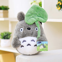 Plush Totoro with Leaf