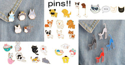 Adorable Animal Pin Sets