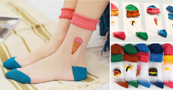 5 Pairs Sheer Kawaii Socks