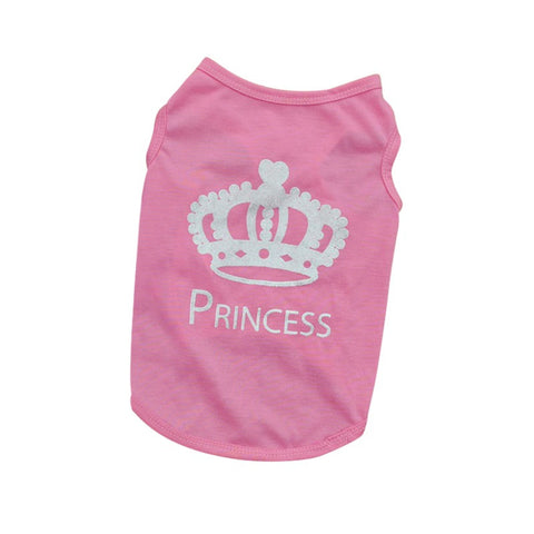Pink Princess Summer Small Dog Tank Tshirt