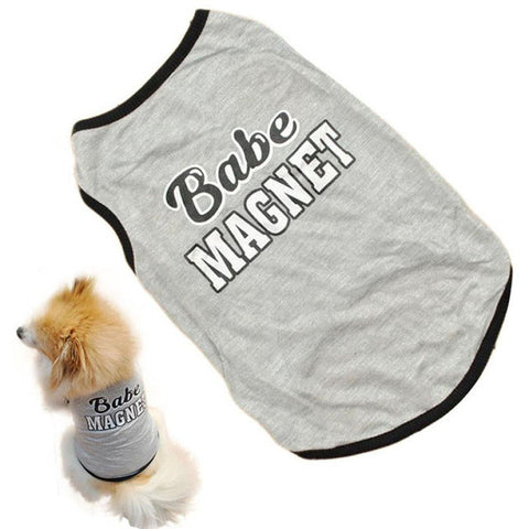 Summer Babe Magnet Tank Vest For Small Dogs