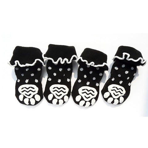 Cute Dog Paw Anti Slip Socks - Grey or Black
