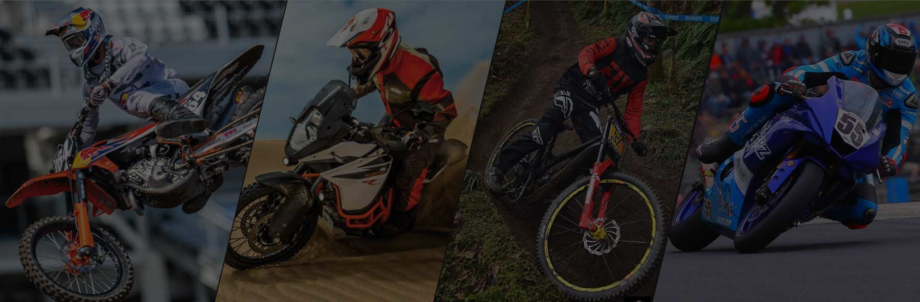 Off-road, street and adventure motorcycles and full suspension mountain bikes- suspension tuning and improved handling.