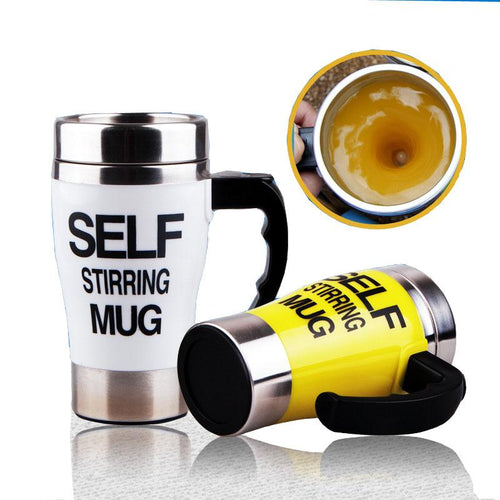 Stainless Steel Self-Stirring Double Insulated Travel Mug