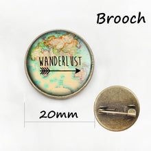 3S Deals Necklaces 20mm Brooch Wanderlust Jewelry