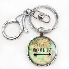 3S Deals Necklaces Silver Keychain Wanderlust Jewelry