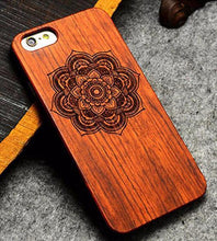 3S Deals Phone Case Flower / iPhone 7 Wooden Hand Carved Phone Cover