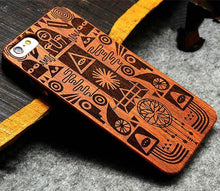 3S Deals Phone Case Hieroglyph / iPhone 7 Wooden Hand Carved Phone Cover