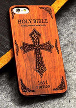 3S Deals Phone Case King James Bible / iPhone 7 Wooden Hand Carved Phone Cover
