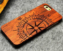 3S Deals Phone Case LG Compass / iPhone 7 Wooden Hand Carved Phone Cover