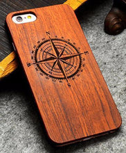3S Deals Phone Case Nautical / iPhone 7 Wooden Hand Carved Phone Cover