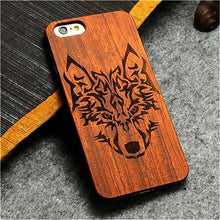 3S Deals Phone Case Wolf / iPhone 7 Wooden Hand Carved Phone Cover
