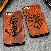 3S Deals Phone Case Wooden Hand Carved Phone Cover