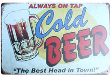 3S Deals Plaques & Signs Always on Tap Vintage Beer Signs