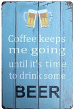 3S Deals Plaques & Signs Coffee until Beer Vintage Beer Signs