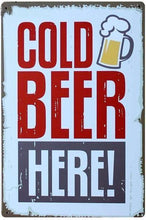 3S Deals Plaques & Signs Cold Beer Here Vintage Beer Signs