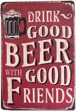 3S Deals Plaques & Signs Drink Good Beer w/ Good Friends Vintage Beer Signs
