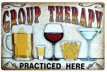 3S Deals Plaques & Signs Group Therapy Vintage Beer Signs