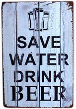 3S Deals Plaques & Signs Save Water, Drink Beer Vintage Beer Signs