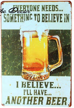 3S Deals Plaques & Signs Something to Believe In Vintage Beer Signs