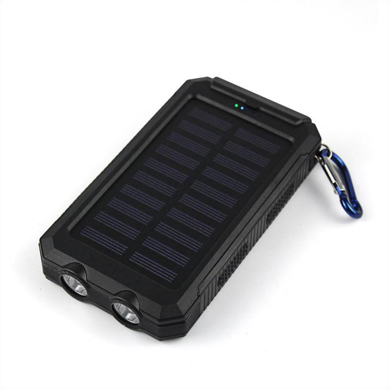 3S Deals Power Bank Black Universal Waterproof Dual-USB Solar Power Bank - 10000mah