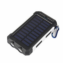 3S Deals Power Bank Black White Universal Waterproof Dual-USB Solar Power Bank - 10000mah