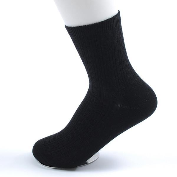 3S Deals Socks Black / One size fits all - 5 - 7.5 US Womens Colorful Bamboo Fiber Socks - 5 Pair