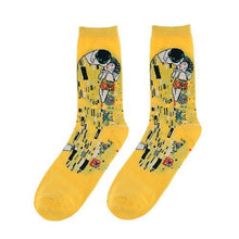 3S Deals Socks Yellow Couple Famous Painting Art Socks - 1 Pair