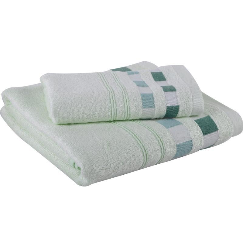 3S Deals Towels Green 2pc Bamboo Bath Towel Set