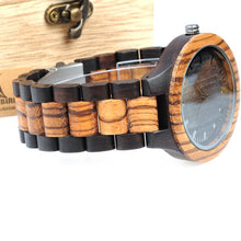 3S Deals Watches China Handmade Designer Zebrawood and Ebony Watch