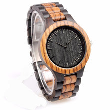 3S Deals Watches Handmade Designer Zebrawood and Ebony Watch