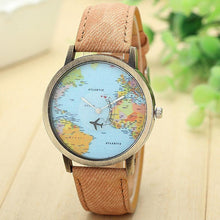 3S Deals Women's Watches Coffee Global Map Watch