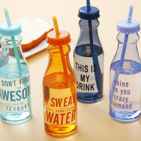 650ml Fashion Plastic Water Bottle BPA Free