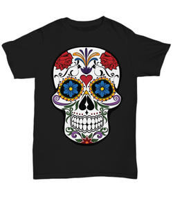 Day Of The Dead Sugar Skull - Premium Tee - T-Shirt - Black
