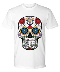 Day Of The Dead Sugar Skull - Premium Tee