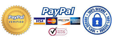 100% Secure & Confidential Payments with Paypal